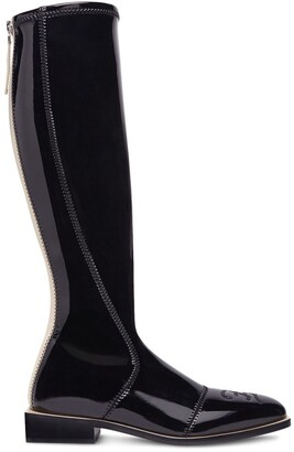 Fendi Patent Knee-High Boots