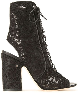 Laurence Dacade Floral Lace Boots