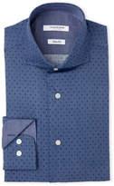 Isaac Mizrahi Printed Slim Fit Dress Shirt