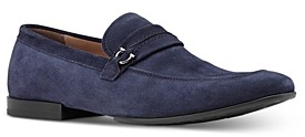 Salvatore Ferragamo Men's Raion Suede Slip On Loafers - Narrow