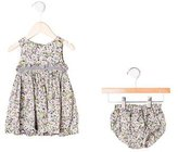 Lili Gaufrette Infant Girls' Sleeveless Floral Dress Set