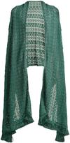 Missoni Fringed loose-knit scarf