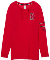 PINK Boston Red Sox Bling Lace-up Varsity Crew