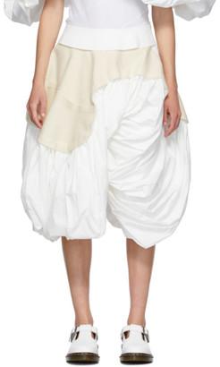 Comme des Garcons White Cloth Skirt