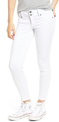 1822 Denim Double Button Skinny Jeans