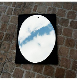 M Nuance - Large Silver Sunrise Oval Mirror - large | silver - Silver/Silver