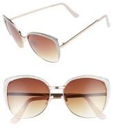 BP Women's Dynasty 60Mm Retro Sunglasses - Silver/ Gold