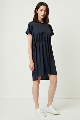 French Connection Tamina Satin Mix Drawcord Dress