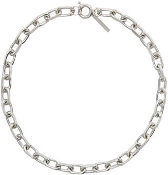 Dries Van Noten Silver Chain Link Necklace