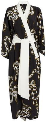 Olivia von Halle Silk Queenie Ciro Kimono Robe