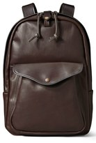 Filson Men's Weatherproof Leather Backpack - Brown