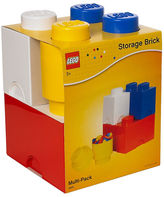 Asstd National Brand 4 Piece Multi Pack Storage Brick Lego Toy Box