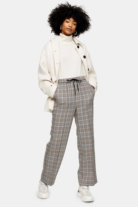 Topshop Womens Bold Check Slouch Trousers - Multi