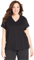 Hue Plus Size V-Neck Sleep Tee