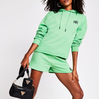 River Island Womens Green long sleeve branded RR hoodie