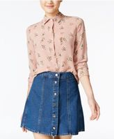 Polly & Esther Juniors' Printed Button-Front Blouse
