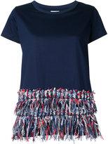 Coohem fringed T-shirt - women - Cotton - 38