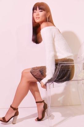 Ardene Fuzzy Off Shoulder Sweater - Clothing |