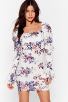 Nasty Gal Womens Plant Stop Us Floral Mini Dress - white - S, White