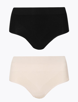 Marks and Spencer 2 Pack Light Control Santoni Seamfree High Leg Knickers