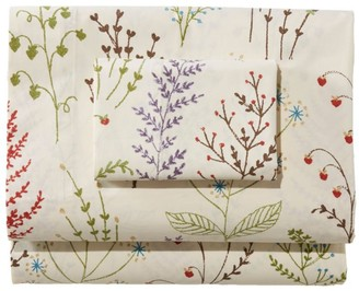 L.L. Bean Botanical Floral Percale Sheet Collection