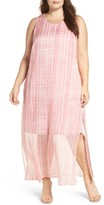 Vince Camuto Plus Size Women's Graceful Phrases Chiffon Maxi Dress