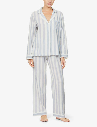 Eberjey Umbrella stripe-print cotton-blend pyjama set