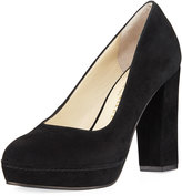 Bettye Muller Moon Suede Platform Pump