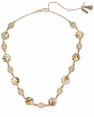 lonna & lilly Women's Gold/Abalone Stone Collar Necklace