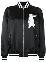 Markus Lupfer sequin rabbit bomber jacket