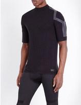 Y-3 Sport Striped jersey-knit top