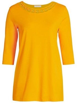 Joan Vass, Plus Size Interlock Cutout Tunic