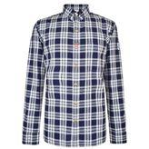 Moncler Gamme Bleu Placket Tab Checked Shirt