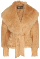 Balmain Suede And Lamb Fur Jacket