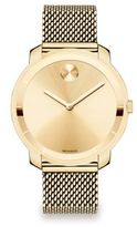 Movado Bold Goldtone IP Stainless Steel Mesh Bracelet Watch