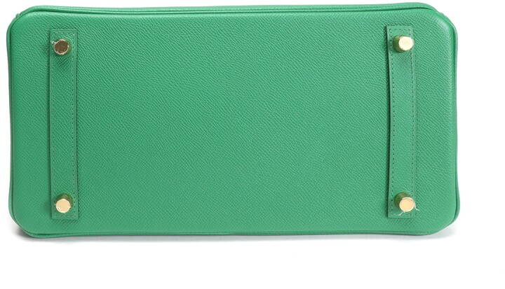 Thumbnail for your product : Hermes Green Epsom Leather Gold Hardware Birkin 30 Bag