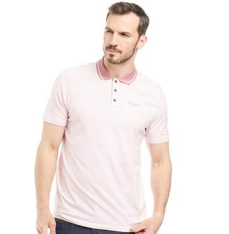 Ted Baker Mens Farway Tee Print Short Sleeve Golf Polo Pink