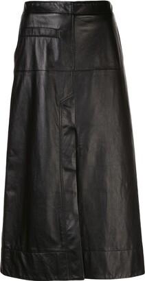 3.1 Phillip Lim Leather High-Waisted Midi Skirt