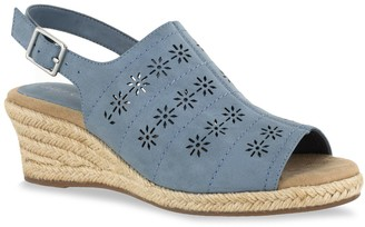 Easy Street Shoes Joann Women's Slingback Wedge Sandals
