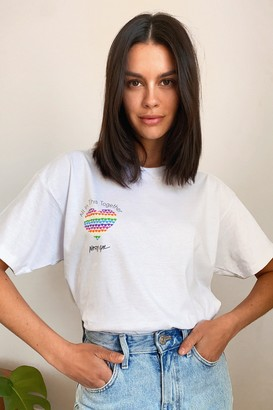 Nasty Gal Womens All in This Together Charity Graphic Tee - White - S
