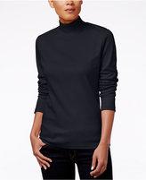 Karen Scott Petite Mock-Neck Sweater, Only at Macy's