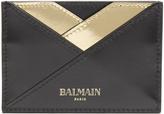 Balmain Bi-colour leather cardholder