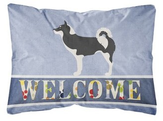 Greenland Winston Porter Satterwhite Dog Welcome Indoor/Outdoor Throw Pillow Winston Porter