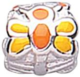 Jo for Girls Yellow/Orange Butterfly Barrel Sterling Silver Bead
