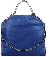 Stella McCartney blue falabella shaggy deer fold over tote