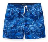 Ralph Lauren Printed Captiva Swim Trunks, Blue, Size 5-7