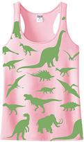 Urban Smalls Light Pink Camo Dinosaur Racerback Tank - Kids & Tween