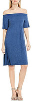 Vince Camuto Two By Off-The-Shoulder Easy Knit Dress