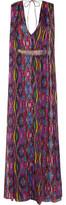 Matthew Williamson Sweetie Belted Printed Silk-Chiffon Gown