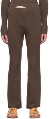 Ludovic de Saint Sernin Brown Knit Trousers